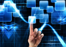 Hightech- Hintergrund - Touch Screen Lizenzfreies Stockfoto