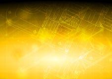 Hightech- Konstruktionszeichnung Lizenzfreies Stockbild
