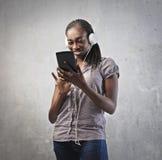 Hightech- Mädchen lizenzfreie stockfotos