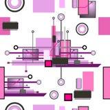 Hightech- nahtloses Muster Stockbild