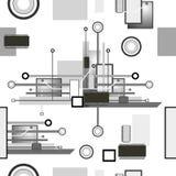 Hightech- nahtloses Muster Stockfotos