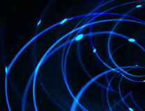 HighTech Networks Background. In blue and black tones royalty free stock photo