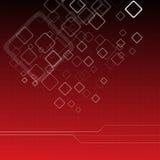 Hightech- roter Hintergrund Stockfoto