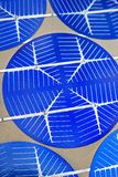 Hightech Solar Cells technology 02. Photon cells closeup for science and ecological energies Stock Images