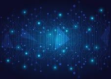 Hightech- Technologie geometrisch lizenzfreie stockfotos
