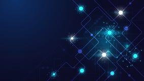 Hightech- Technologie geometrisch stockbild