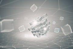 Hightech- Würfelzahl Gemischte Medien Lizenzfreie Stockfotos