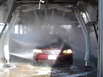 Hightech water. The car wash of car washes Royalty Free Stock Images