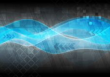 Hightech- wellenförmige Auslegung Lizenzfreies Stockfoto