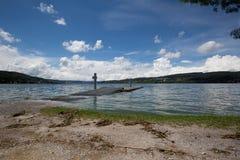 Hightide на береге озера Стоковые Фотографии RF