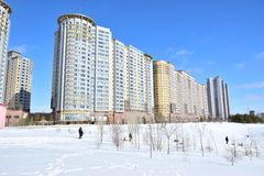 The HIGHVILL residential building in Astana / Kazakhstan Stock Photography