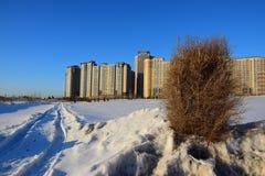 The HIGHVILL residential building in Astana / Kazakhstan Stock Images
