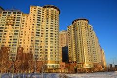 The HIGHVILL residential building in Astana / Kazakhstan Stock Photos