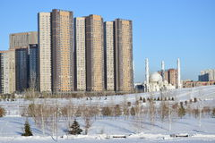 The HIGHVILL residential building in Astana / Kazakhstan Stock Image