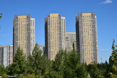 HIGHVILL residential buildings in Astana Stock Photos