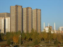 HIGHVILL residential buildings in Astana Stock Images