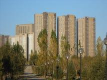 HIGHVILL residential buildings in Astana Stock Photo