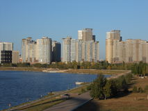 HIGHVILL residential buildings in Astana Stock Photography