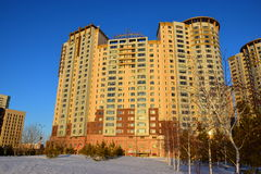 The HIGHVILLE residential building in Astana / Kazakhstan Royalty Free Stock Photo