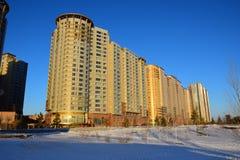 The HIGHVILLE residential building in Astana / Kazakhstan Stock Image