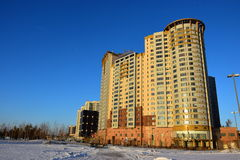 The HIGHVILLE residential building in Astana / Kazakhstan Royalty Free Stock Image