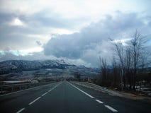 Highwaiy GRANADA-Andalusia. Highway Granada-Andalusia-Spain-Europe Royalty Free Stock Photos