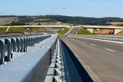 Highway #1. Empty highway in Bavaria, Germany royalty free stock photos
