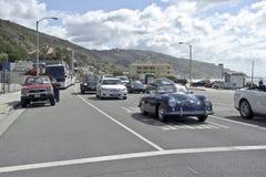 Highway 1 in Malibu in California. A shot of heavy traffic on Highway 1 in Malibu in California Royalty Free Stock Photo