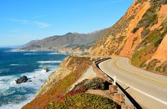 Free Highway 1 Running Along Pacific Coast In California. Royalty Free Stock Images - 106535829