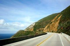 Highway 101. Drive along the coastal HWY 101, California Royalty Free Stock Photos