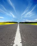 Highway. Road and sky Royalty Free Stock Images