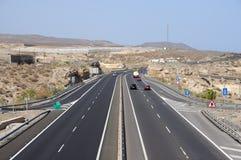 Highway. On Canary Island Tenerife, Spain royalty free stock photos