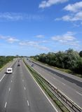 Highway. In England with light traffic Royalty Free Stock Photos