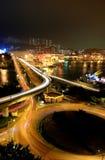 Highway. In Hong Kong at night Stock Photos