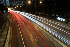 Highway. In Hong Kong at night Royalty Free Stock Photos