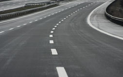Highway. A speed - blurred highway image Stock Images
