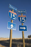Highway 15 sign Royalty Free Stock Photography