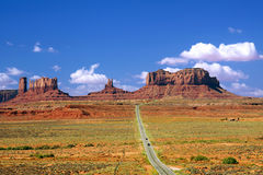 Highway 163 Monument Valley Royalty Free Stock Photos