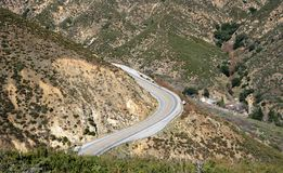 Highway 18 Panorama. View of highway 18 in the San Bernardino Mountains in California Stock Photos