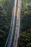 Highway. Big road from above, view from the balloon Royalty Free Stock Photos