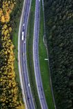 Highway. Big road from above, view from the balloon Stock Images