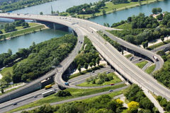 Highway. Vienna highway interchange view from above Royalty Free Stock Photo