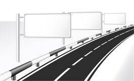 Highway. Highway and banner ads Stock Photography