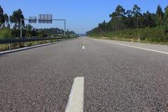 Highway. Empty Road. Asphalt close-up Stock Photography