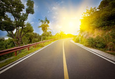 Highway. The road under the Blue Sky royalty free stock images