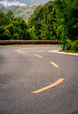 Highway. The road under the Blue Sky Royalty Free Stock Photography
