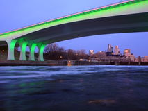 Highway 35W in Minneapolis stock images