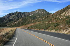 Highway 39 at Smith Mountain. Highway 39 in the Angeles National Forest near Smith Mountain, California Stock Photography