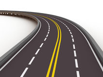 Highway 3d illustration. White background Royalty Free Stock Photography