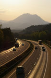 Highway. It is a highway in the landscape stock photography